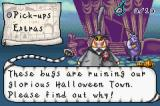 Tim Burton's The Nightmare Before Christmas: The Pumpkin King Game Boy Advance Pause menu