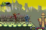 Tim Burton's The Nightmare Before Christmas: The Pumpkin King Game Boy Advance Talk to the scarecrows to save your game.