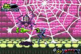 Tim Burton's The Nightmare Before Christmas: The Pumpkin King Game Boy Advance Boss fight against a huge spider.