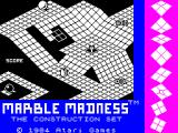 Marble Madness Construction Set ZX Spectrum Load screen