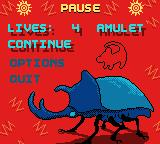 Disney's The Lion King: Simba's Mighty Adventure Game Boy Color Pause menu