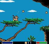 Disney's the Lion King: Simba's Mighty Adventure Game Boy Color Up in the trees