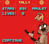 Disney's the Lion King: Simba's Mighty Adventure Game Boy Color Level statistics