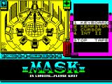 MASK Two Two ZX Spectrum ... but you'll see a lot of this screen too because the game says its still  loading but its actually waiting for input. Luckily it plays music during this bit which is great for a while
