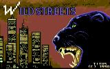 Wild Streets Commodore 64 Title Screen