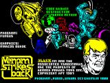 VENOM Strikes Back ZX Spectrum Load screen