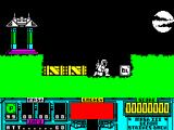 VENOM Strikes Back ZX Spectrum That's the first mask collected, it now appears in the lower part of the screen