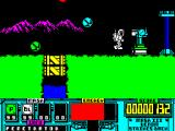 VENOM Strikes Back ZX Spectrum Screen 4 - more balloons and the first automated gun