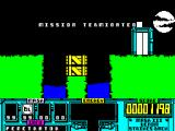 VENOM Strikes Back ZX Spectrum Mission over. I mistimed a jump and ended in the water just before I entered the door to the moon base as well