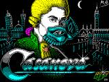 Casanova ZX Spectrum Load screen. While this displays there is some pretty music