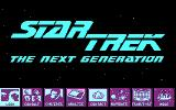 Star Trek: The Next Generation - The Transinium Challenge DOS Title screen (CGA)
