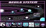 Star Trek: The Next Generation - The Transinium Challenge DOS The navigation screen (CGA)