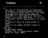 Acheton BBC Micro There's a Farmhouse to the North where items can be collected