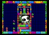"Puyo Puyo TurboGrafx CD ""Fighting"" against a skeleton"