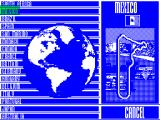 Nigel Mansell's World Championship Racing ZX Spectrum A quick race with lots of tracks to choose from. I chose Mexico because it looks easier. The globe rotates to show the correct part of the world which is neat.