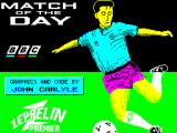 Match of the Day ZX Spectrum Load screen