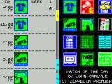 Match of the Day ZX Spectrum This is the first day completed