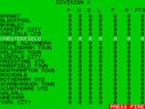 Match of the Day ZX Spectrum The green icon (middle of 3rd row down) shows the teams position in the league