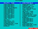 Match of the Day ZX Spectrum The blue icin, (3rd row down on the right) brings up the fixtures list