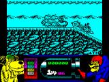 Wacky Races ZX Spectrum The race starts at the top of a hill and I'm left standing