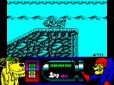 Wacky Races ZX Spectrum Some clever designer has placed a block immediately before a jump. It's just a bird, why can't I run it down?