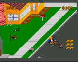 Paperboy Amiga Paperboy gets run over by a lawnmower
