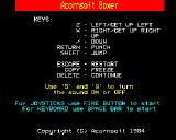 Boxer BBC Micro Keyboard control layout with joystick option
