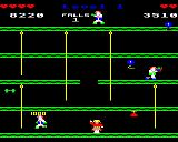 Boxer BBC Micro Headbutting the punch bag for 1000 points.