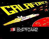 Galaforce BBC Micro 4 colour loading screen