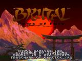 Brutal: Paws of Fury SNES Title screen