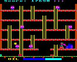 Felix in the Factory BBC Micro Six pink monsters are nearly impossible to defeat.