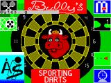 Bully's Sporting Darts ZX Spectrum Load screen