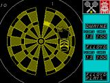 Bully's Sporting Darts ZX Spectrum Here a 'ball' has been hit and it's on the receivers side. The highlighted bed musy be hit in order to return the ball