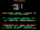 Potsworth & Co. ZX Spectrum Action key redefinition