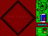 Jump ZX Spectrum The game menu is three tiles like this. Select this and you get into the key redefinition process. The other two tiles are STICK to select the joystick and JUGAR to start the game
