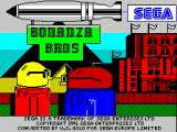 Bonanza Bros. ZX Spectrum Load screen