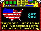 Wild West Seymour ZX Spectrum The game eventually starts with this picture and rolling text explaining that all the stuff needed to make the film has been lost etc