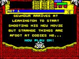 Wild West Seymour ZX Spectrum Code entered the game finally starts. To play walk Seymour off the screen. I walked to the left...