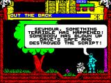 Wild West Seymour ZX Spectrum This is the start of a dialogue sequence. Just keep hitting ENTER to get the next piece