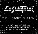 Cosmo Tank Game Boy Title Screen