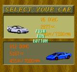 Road Spirits TurboGrafx CD Selecting your car