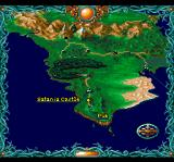 Sword Master TurboGrafx CD The movement on the world map is non-interactive