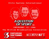 A Question of Sport BBC Micro Main loading screen