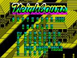 Neighbours ZX Spectrum A really hard to read game menu