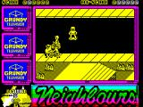 Neighbours ZX Spectrum I'm on the skateboard, the others are on bikes and go-karts