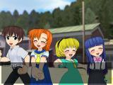 Higurashi Daybreak Windows Cut scene before a fight in story mode
