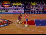 NBA Jam Tournament Edition SEGA 32X In practice mode you can play freely without opponents.