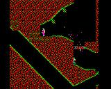 Exile BBC Micro Blowing open a door to the caves with a grenade.