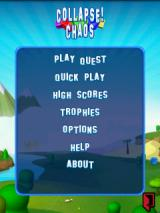 Collapse! Chaos Android Main menu