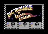 Big Trouble in Little China Commodore 64 Title screen